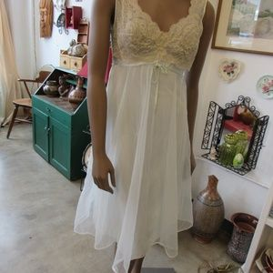 Vintage Blue Lace Nightgown